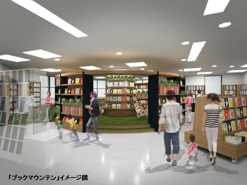 丸善 日立店「ブックマウンテン」イメージ図